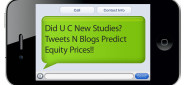 [Article] Did U C New Studies? Tweets N Blogs Predict Equity Prices!!